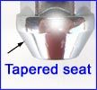 Tapered seat nut