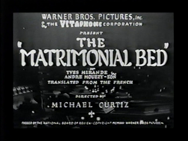 vlcsnap2011070215h32m46 Michael Curtiz   The Matrimonial Bed (1930)