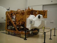 LDCM installed on horizontal support frame<br /> after completing thermal vacuum testing at<br /> Orbital SciencesCorporation&#39;s facility in<br /> Gilbert, Ariz.<br /> Credit: Orbital&nbsp;&nbsp;&nbsp;&nbsp;<br /> <a href='http://www.nasa.gov/images/content/708457main_SANY0005.JPG' class='bbc_url' title='External link' rel='nofollow external'>� Larger image</a>