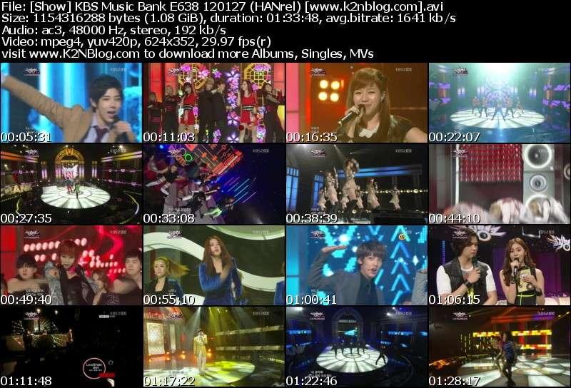 [Show] KBS Music Bank E638 120127